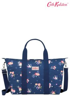 Cath Kidston® Blue Navy Busby Bunch Foldaway Overnight Bag
