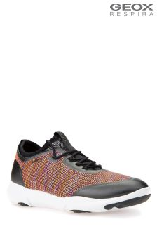 Geox Nebula X Black/Orange Slip-On Trainer