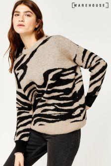 Warehouse Black/White Zebra Jumper