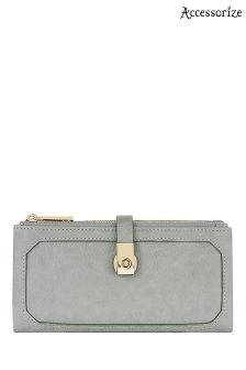Accessorize Grey Soft Double Flap Wallet