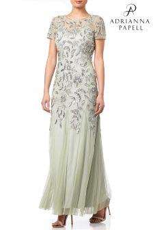 Adrianna Papell Mint Embellished Evening Dress