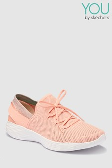 Skechers® You Spirit Peach Two Tone Lace Detail Slip-On