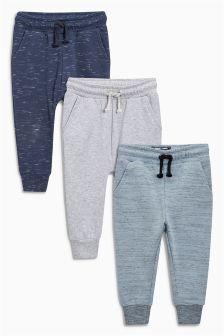 Pack de tres pantalones pitillo de chándal texturizados (3 meses-6 años)