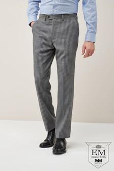 Костюм обычного кроя из британской шерсти в полоску: брюки