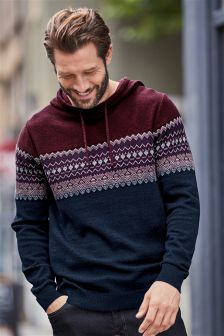 Fairisle Pattern Hoody
