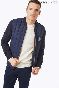 Gant Navy Full Zip Knitted Jacket