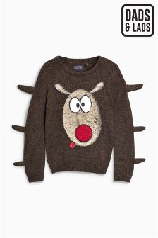 Boys Christmas Reindeer Jumper (3-16yrs)