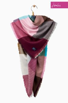 Joules Multi Gingham Soft Handle Oversized Heyford Scarf