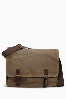 Waxed Messenger Bag