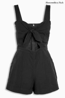 Abercrombie & Fitch Black Tie Playsuit
