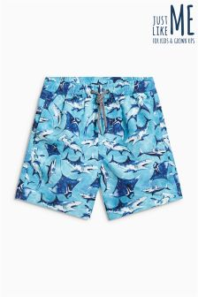 Shark Swim Shorts (3mths-16yrs)