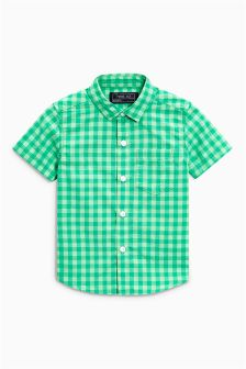 Gingham Short Sleeve Shirt (3mths-6yrs)