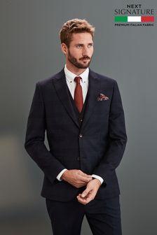 Signature Check Slim Fit Suit: Jacket