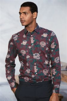 Floral Printed Slim Fit Shirt