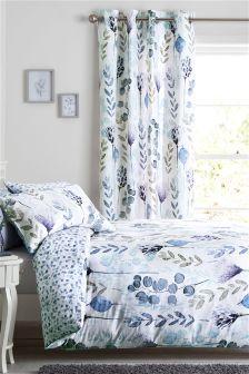 Cotton Sateen Botanical Bed Set