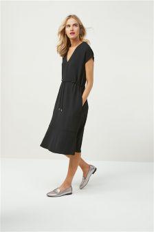 Textured Crepe Dress