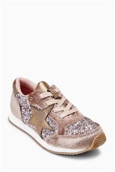 Star Glitter Trainers (Older Girls)