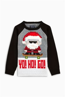 Christmas Yo Ho Go Jumper (3-16yrs)
