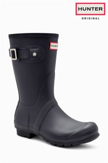 Hunter Original Black Matt Short Welly