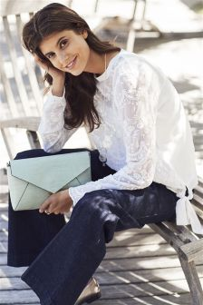 Lace Tie Sleeve Top