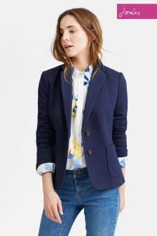 Joules Navy Ellice Tweed Blazer