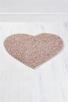 Pink Heart Shaped Rug