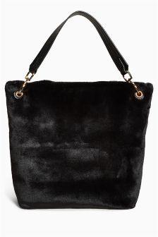 Faux Fur Hobo Bag
