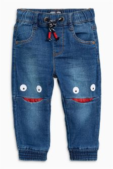 Jersey Denim Face Knee Jeans (3mths-6yrs)