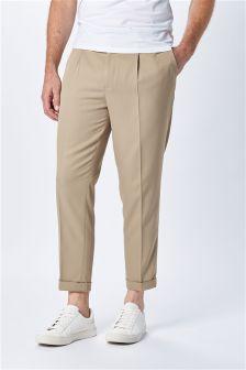 Voluminous Pleated Trousers
