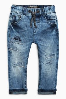 Car Embroidered Jeans (3mths-6yrs)