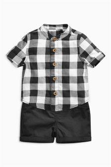 Gingham Shirt And Shorts (0mths-2yrs)