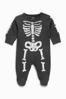 Halloween Skeleton Sleepsuit (0-18mths)