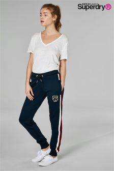 Superdry Navy Track Jogger With Red/White Stripe