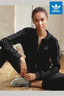 adidas Originals Black Cuff Velvet Jogger