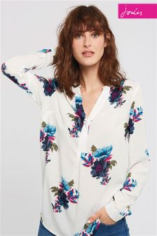 Joules Cream Rosamund Woven Top