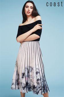 Coast Multi Mirabeau Printed Pleat Midi Dress