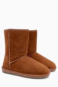 Faux Fur Suede Boots