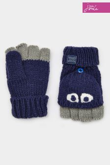 Joules Navy Character Mittens