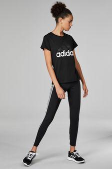 adidas Black Essential 3 Stripe Tight