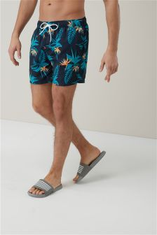 Flower Print Swim Shorts