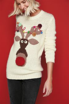 Christmas Reindeer Jumper (Womens)