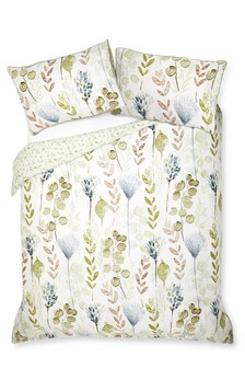 Cotton Sateen Botanical Floral Bed Set