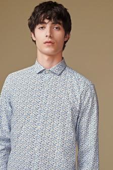 Ditsy Floral Print Slim Fit Shirt