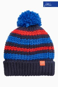 Joules Navy Knitted Bobble Hat