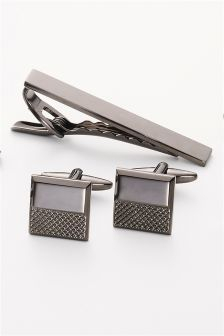 Cufflinks And Tie Clip