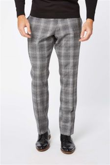 Signature Wool Check Slim Fit Suit: Trousers