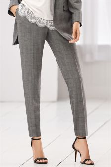 Check Tailored Taper Trousers