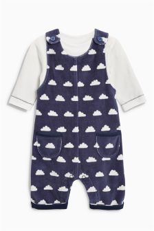 Cloud Dungarees And Bodysuit Set (0mths-2yrs)