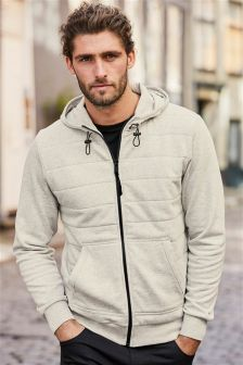 Quilted Zip Through Hoody