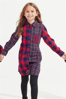Girls Mix Check Shirt (3-16yrs)